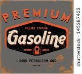 vintage gasoline   motor oil    Shutterstock .eps vector #145387423