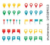 colorful map pins. isolated on... | Shutterstock .eps vector #145389013