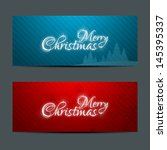 merry christmas banners set... | Shutterstock . vector #145395337
