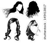 various female hair styles and... | Shutterstock .eps vector #145413817