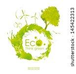 illustration environmentally... | Shutterstock . vector #145422313