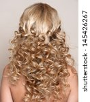 beauty  curly wedding hairstyle.... | Shutterstock . vector #145426267