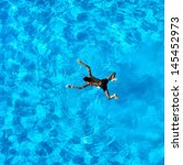 people exercising in a swimming ... | Shutterstock . vector #145452973