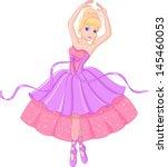 ballerina | Shutterstock .eps vector #145460053