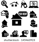 real estate icons | Shutterstock .eps vector #145463923
