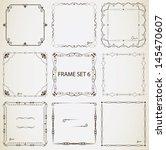 vintage frame set 6. abstract... | Shutterstock .eps vector #145470607