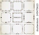 vintage frame set 5. abstract... | Shutterstock .eps vector #145470613