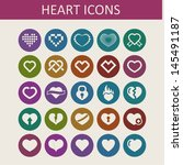 heart icons for site | Shutterstock .eps vector #145491187