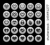 love icon set | Shutterstock .eps vector #145491277