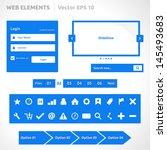 web site elements template  ... | Shutterstock .eps vector #145493683