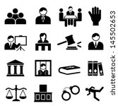 law and legal icon set | Shutterstock .eps vector #145502653