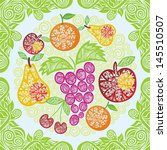 fruits pattern vector... | Shutterstock .eps vector #145510507
