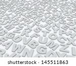 letters of the english alphabet.... | Shutterstock . vector #145511863