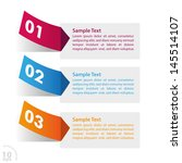 three colorful stickers on the... | Shutterstock .eps vector #145514107