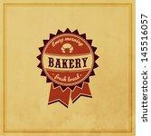 bakery retro label | Shutterstock .eps vector #145516057
