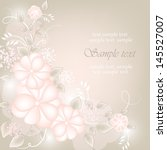 wedding card or invitation with ... | Shutterstock .eps vector #145527007