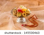 arabic sweet with rosary | Shutterstock . vector #145530463
