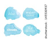 beautiful watercolor clouds.... | Shutterstock .eps vector #145530937