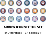 arrow icon set with colorful...