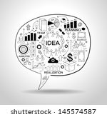 business strategy plan concept... | Shutterstock .eps vector #145574587