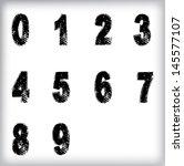 set of grunge numbers. vector... | Shutterstock .eps vector #145577107