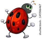Illustration Of A Red Bug On A...
