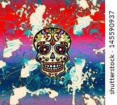 sugar skull   mexico   dia de...   Shutterstock . vector #145590937
