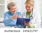 doctor explaining diagnosis to... | Shutterstock . vector #145621747