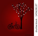 vector background with bicycle... | Shutterstock .eps vector #145628137