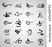 business icons set   isolated... | Shutterstock .eps vector #145630993