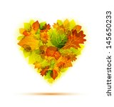 autumn leaves studded with... | Shutterstock .eps vector #145650233