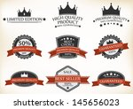 premium quality and guarantee... | Shutterstock . vector #145656023