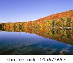 New England Pond In Autumn