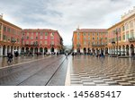 Small photo of NICE, FRANCE - APRIL 26: The Place Massena on April 26, 2013 in Nice, France. Square is located in the city center and is the most popular destination among tourists. It was reconstructed in 1979.