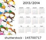 simple calendar on new school... | Shutterstock .eps vector #145700717