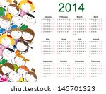 simple and colorful calendar on ... | Shutterstock . vector #145701323