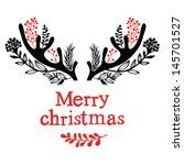 christmas antlers | Shutterstock .eps vector #145701527