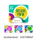 modern price menu design... | Shutterstock .eps vector #145738067