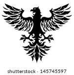 black eagle | Shutterstock .eps vector #145745597