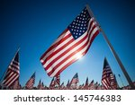 a display of many american... | Shutterstock . vector #145746383