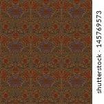 vintage brown seamless pattern... | Shutterstock .eps vector #145769573
