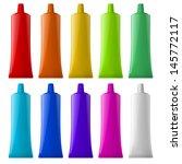 Colorful Tubes. Illustration O...