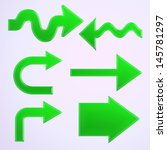 set of green arrows | Shutterstock . vector #145781297