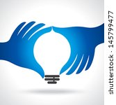 reach idea with human hand | Shutterstock .eps vector #145799477