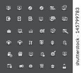 seo icons vector   Shutterstock .eps vector #145799783