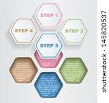 vector infographic template... | Shutterstock .eps vector #145820537