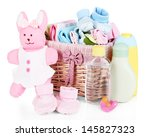 baby accessories isolated on... | Shutterstock . vector #145827323