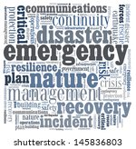 disaster recovery word cloud... | Shutterstock . vector #145836803