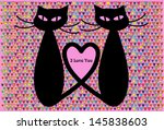 Pair Of Black Cats In Love ...