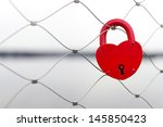 Heart Shaped Love Padlock  ...